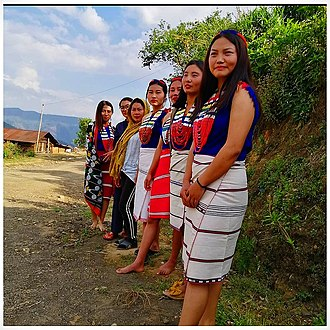 Girls from Chingjaroi in traditional attire. Image Chingjaroi . Girls in traditional attire.jpg