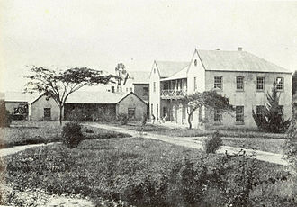 Inanda Seminary School - The original building is on the left