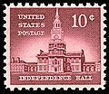 Independence Hall US stamp 10c 1956 issue.jpg