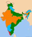 Indian state according to the party of their chief minister.png