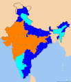 Indian states according to party of their chief ministers.png
