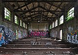 Inside an abandoned military building in Fort de la Chartreuse, Liege, Belgium (DSCF3371).jpg