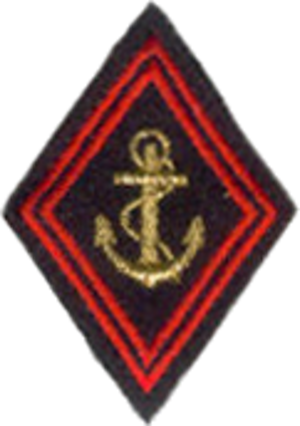 3rd Marine Infantry Regiment - left arm insignia, with anchor of the marine infantry.