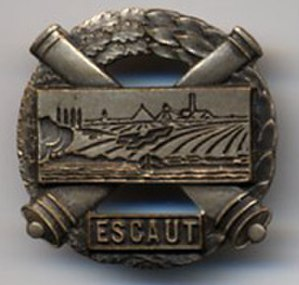 Fortified Sector of the Escaut - Insignia of the fortified sector.