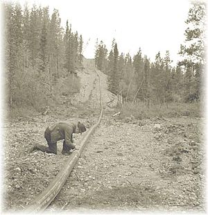 Canol pipeline - Inspecting the Canol pipeline.