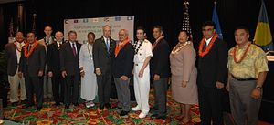 Dirk Kempthorne - Secretary of the Interior Dirk Kempthorne joins federal and island leaders for a group picture at the Insular Areas Health Summit
