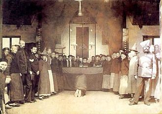 Extraterritoriality - A hearing of the International Mixed Court at Shanghai, c. 1905