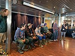 Inuit guardians from Gjoa Haven on MS Ocean Endeavour as part of the trial visitor experience, 2019.jpg