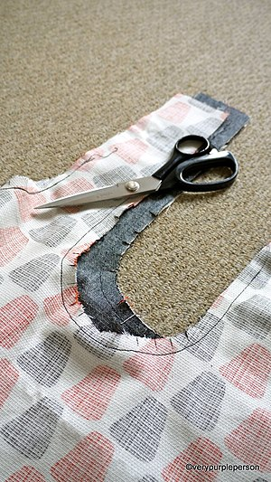 Seam (sewing) - Image: Inward curving seams clipped