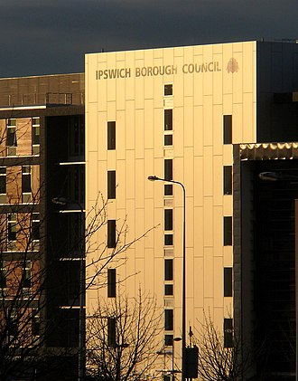 Ipswich Village Development - Image: Ipswich borough council offices
