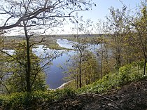 Iput River at Duby Cemetery in Dobrush 6 May 2014.jpg