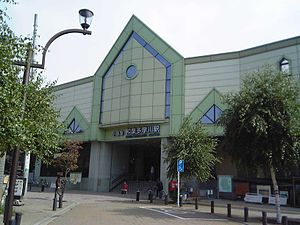 Izumi-Tamagawa Station - Izumi-Tamagawa Station entrance, October 2005