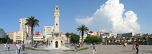 Konak Square - General view of Konak Square with the İzmir Clock Tower