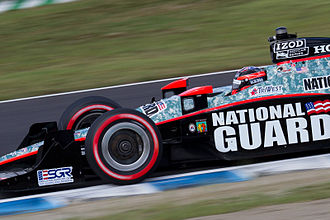 J. R. Hildebrand - Hildebrand driving for Panther Racing at the 2011 Indy Japan 300.