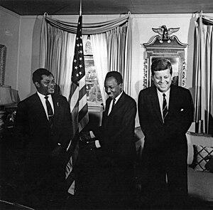 Oscar Kambona - Oscar Kambona with President Nyerere and President Kennedy in 1963