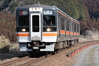 Kansai Main Line - A Kasuga limited express train in a rural section. The photo was taken in March 2006, shortly before the service was canceled.