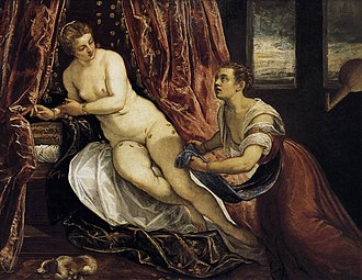 1580 in art - Tintoretto – Danaë, Museum of Fine Arts of Lyon