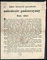 Jakie korzyści przyniesie zniesienie pańszczyzny - Bracia rolnicy! Inc. - Bóg ulitował się nędzy waszéj, i zniósł cięzką niewolę waszą. Panowie zapomnieli srogich mordów, w roku 1846 przez braci waszych... (60638801).jpg