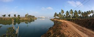 Lakes in Bangalore - Panoramic view of Jakkur Lake