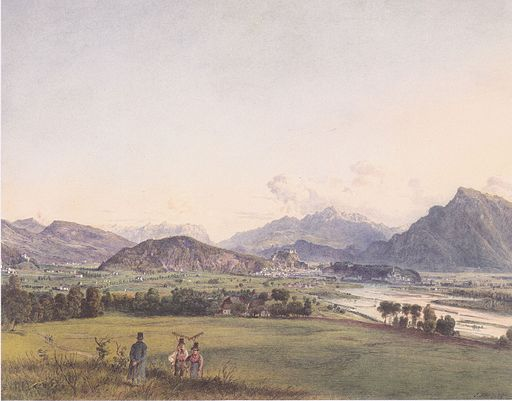 Jakob Alt - Blick auf Salzburg - 1844
