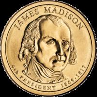 Presidential Dollar of James Madison