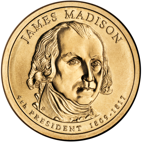 Fichier:James Madison Presidential $1 Coin obverse.png