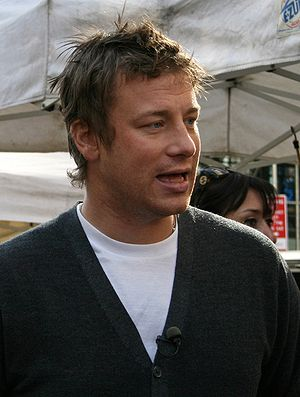 Celebrity chef - Jamie Oliver's campaign on the quality of school dinners changed the government standards in the UK