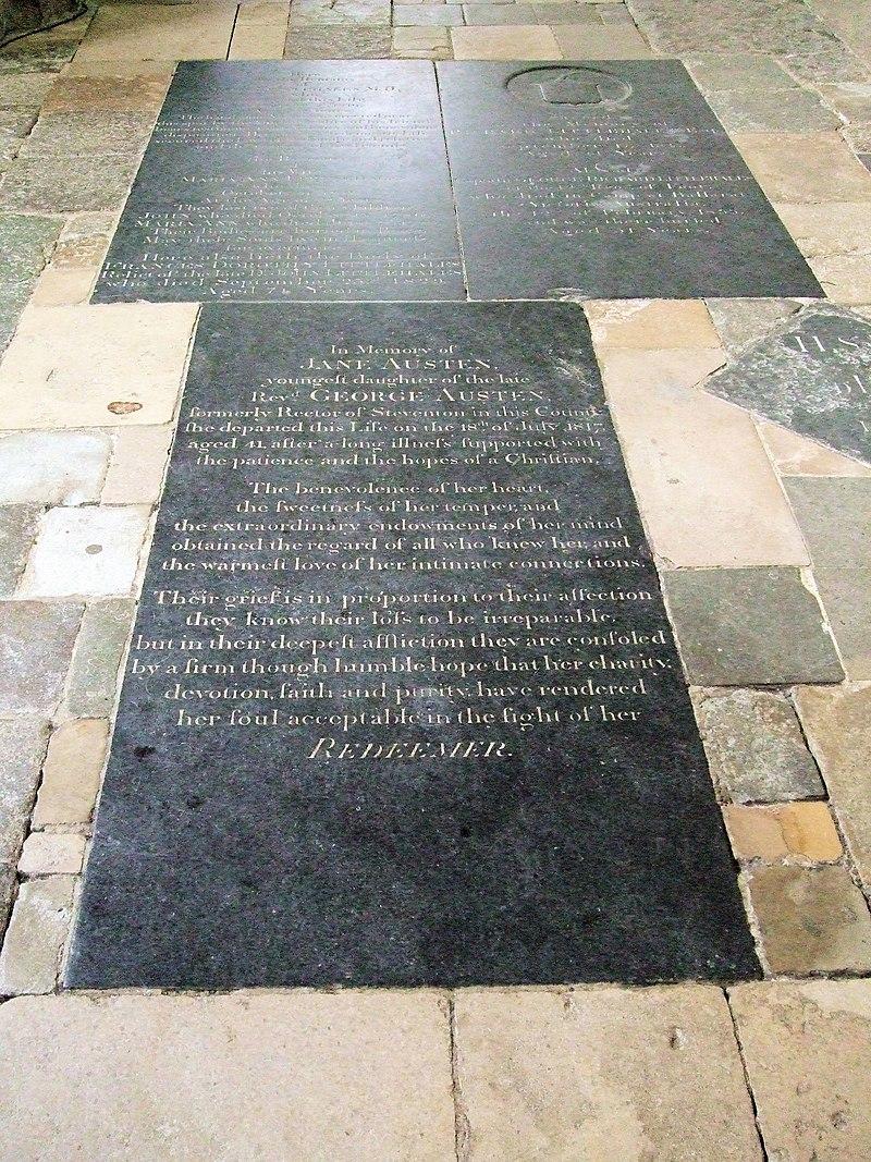 Jane Austen's Grave, Winchester Cathedral-5714881687.jpg