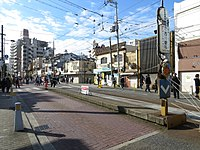 Japanese New Year of Sumiyoshi Toriimae Station (01) IMG 8735 R 20150103.JPG