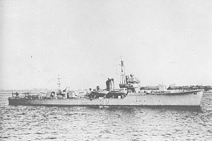 W-19-class minesweeper - Image: Japanese minesweeper No 29 in 1943