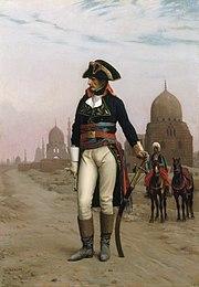 Imagen de Napoleón Bonaparte en El Cairo.