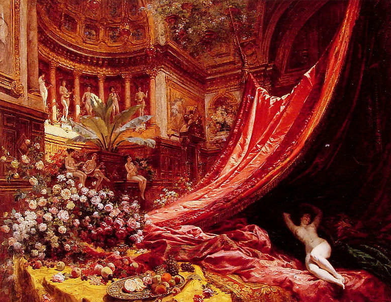 Файл:Jean Béraud Symphony in Red and Gold.jpg