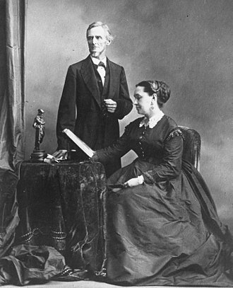 Varina Davis - Jefferson and Varina photographed in Montreal, Canada, in 1869.