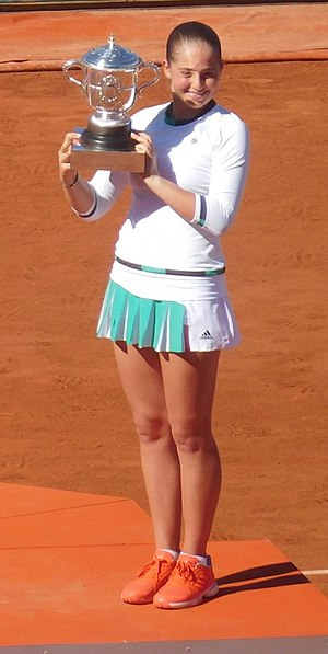 Jeļena Ostapenko - Ostapenko after winning the 2017 French Open