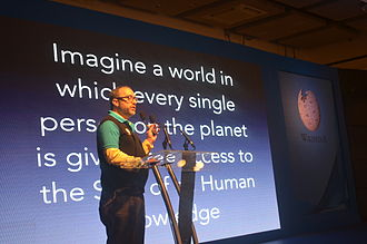 Jimmy Wales - Wales at the tenth anniversary celebration of the Bengali Wikipedia