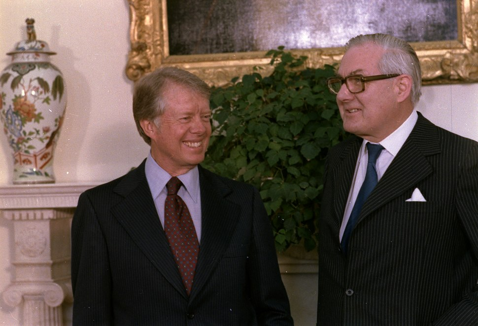 Jimmy Carter and James Callaghan, Prime Minister of Great Britain., 03-23-1978 - NARA - 178479