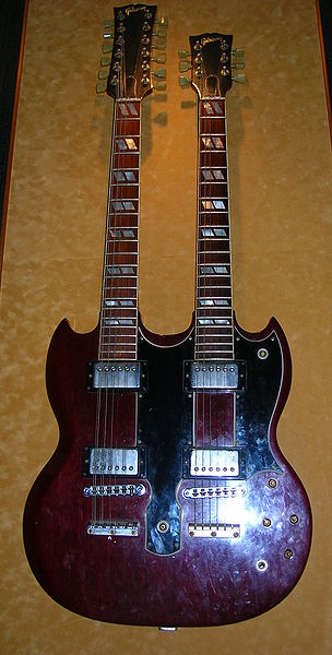 File:Jimmy Page's double-neck Gibson guitar, Hard Rock Cafe Hollywood.JPG