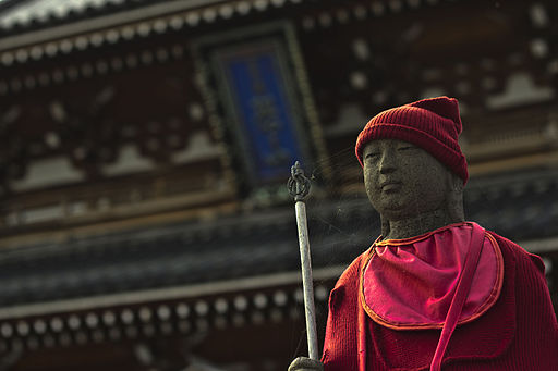Jizo statue at the Bodaiji temple