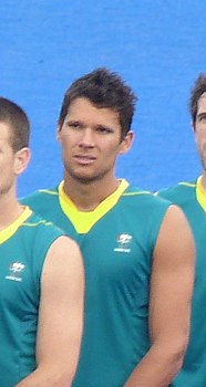 Joel Carroll - 2012 Olympic field hockey team Australia (cropped).JPG
