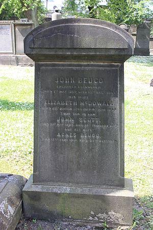 John Beugo - John Beugo's grave, Greyfriars Kirkyard.