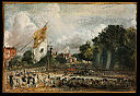 John Constable - The Celebration in East Bergholt of the Peace of 1814 Concluded in Paris between France and the Allied Powers - Google Art Project.jpg
