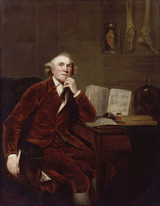 John Hunter (surgeon) - Painted by John Jackson, 1813, after Sir Joshua Reynolds, 1786