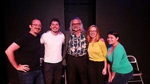 John Law (Burning Man) - John Law, center, guest on Night School, a show at Endgames Improv
