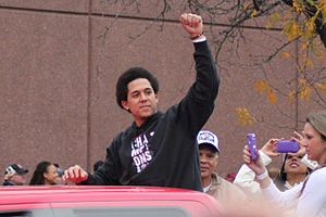 Jon Jay - Jay during the 2011 World Series parade