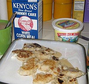 Johnnycake - Johnnycakes on a plate