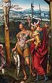 Joos van cleve, trittico della crocifissione tra i committenti inginocchiati, 1500-1550 ca. 05.JPG