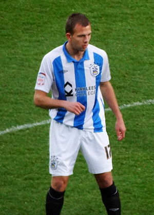 Jordan Rhodes - Rhodes playing for Huddersfield Town in 2011