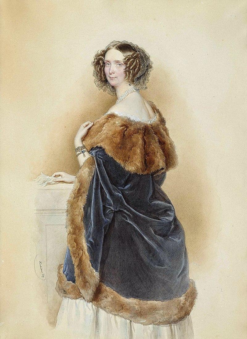 Josef Kriehuber - Erzherzogin Sophie von Österreich, Prinzessin von Bayern 1849.jpg