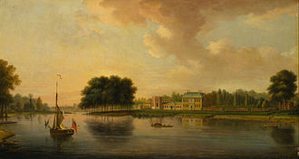 James Johnston (Secretary of State) - Johnston's house seen from the Thames picture dated 1726(?)