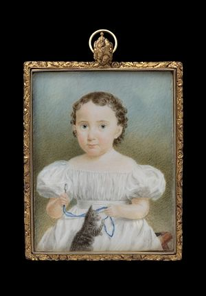 Elizabeth Goodridge - Portrait miniature of Julia Porter Dwight by Elizabeth Goodridge, ca. 1832. Yale University Art Gallery